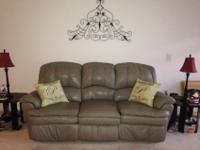 Good Lane Leather double reclining sofa. Extremely