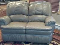For Sale - LANE Leather Reclining sofa/Love Seat with
