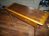"A vintage dovetail Lane Acclaim table with drawer 17"" x"