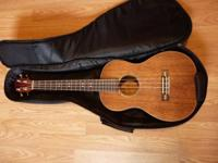 Lanikai Baritone Ukelele, Koa with antique surface and