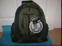 Never been used. Army green, laptop backpack, Brand