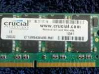 Crucial 1Gig Laptop Memory DDR2 $20.00 email or call
