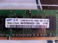 Asking $10.00 obo. Laptop memory Dell, I have two sets