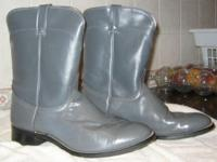 A pair of grey Laredo Roper Western boots, size 11E.