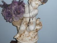 This is a BEAUTIFUL French Country girl statue for home