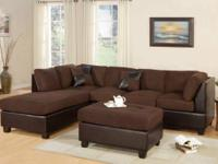 Easily crafted sectional covered in a deluxe microfiber