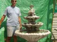 Large 3 tier molded concrete sectional fountain $175.00
