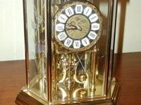 "Large 48"" Ornately Carved Wall Regulator A Clock. Wood."