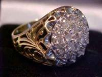LARGE AND VERY IMPRESSIVE .50 CARAT (19) DIAMONDS AND
