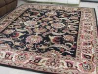 FOR SALE BEAUTIFUL HAND TUFTED AGRA INDIA WOOL AREA RUG