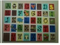 LARGE ABC canvas for a child's room or play area.