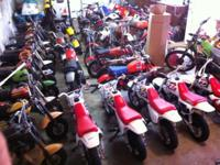 The Lot available is 74 Dirt Bikes 5 3-Wheelers, and 3