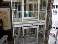 I HAVE A LARGE ANIMAL OR PARROT BREEDING CAGE, THE CAGE