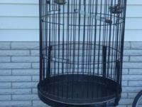 Beautiful 6 1/2 foot tall parrot cage..In very nice