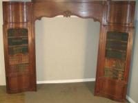 TREASURES ID #17710  Provincial French faux bookcase