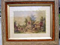 "Beautiful old large picture frame measuring 36"" x 30"""