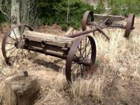 Big (appox 15' x 6' x 3') old lumber wagon originally