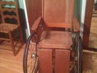 I am wanting to offer an antique wheel chair because I