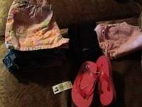 Size 2 girls clothes, includes: shirt, flip flop brand