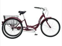 . . Large Basket : Fits Most 3-Wheel Bike , Black ,