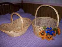 "Beautiful baskets one measures 16""x27"" the other"