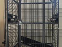 Large, rectangular bird cage for sale. It is 46 inches