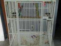I have a white large doom top bird cage. Tray at bottom