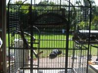 HUGE BIRD CAGE FOR PARROTS/ MACAWS, GOOD CONDITION,