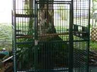 large 40 in. bird cage with swing and perch for $400.00