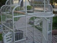 . Victorian Wrought Iron Bird Cage 48h x 32w X 23d