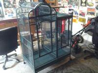 -Large white bird cage with stand for sale $100.00
