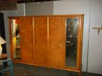 Birdseye maple wardrobe, huge, 5 doors, 2 mirrors,