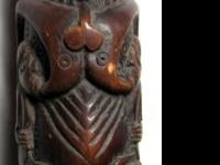 BONE CARVING BREAST FEEDING TWINS - VERY LARGE -
