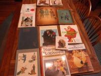 Large group of Norman Rockwell Books as well as ceramic