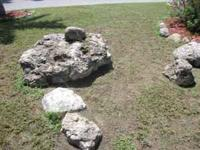 We have large landscaper's rocks in our front yard.