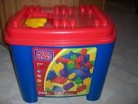 Large box full of Mega Blocks 260 Parts Inside
