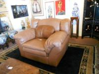 For sale is a nice over-sized leather chair perfect for