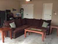 We have a dark brown sectional for sale. Unfortunately