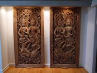 This set of beautiful, unique carvings depict the Hindu
