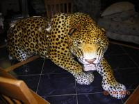 "Large ceramic jaguar 39""x14""x10"" Italian made."