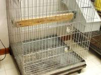 LARGE CHROME BIRD / PET CAGE for medium or large bird