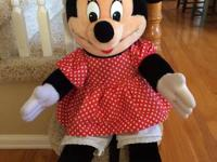 "Huge Classic Disney Minnie Mouse 28"" Plush Stuffed Doll"