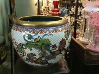 Huge Cloisonne Fish Bowl. 20 Diameter. $750. East Meets