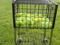 Large coaches tennis ball training basket  Plastic