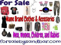 Large Collection of Name Brand Clothing For Sale. Find