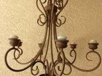 This is a beautiful chandelier at a great price. Copper