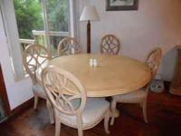 Nice large Table, 6 padded Chairs Large Buffet w three