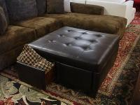 LARGE Dark Brown Ottoman with DRAWERS! - $499 (san