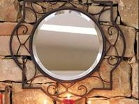 Large iron mirror, purchased from Willow House