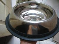 Stainless steel lg. bowl with rubber non-skid bottom